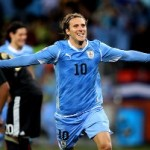 Uruguay Striker Diego Forlan Wins The FIFA Golden Ball Award