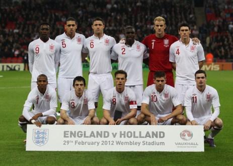 England Squad EURO 2012