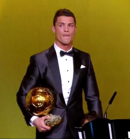 Cristiano Ronaldo, Ballon d'Or Winner 2013.