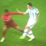 Nani Tackle Sends Man Utd's Di Maria For X-Rays