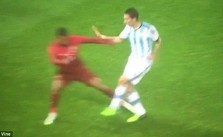 Nani Tackle Sends Man Utd's Di Maria For X-Rays