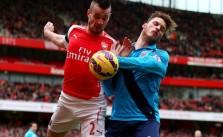 Marko Arnautovic's Shocking Challenge On Arsenal's Debuchy - VIDEO