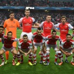 Arsenal's starting XI line up