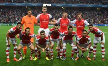 Arsenal's starting XI line up